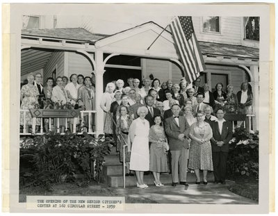 The Opening of the New Senior Citizen's Center at 162 Circular STreet -1959