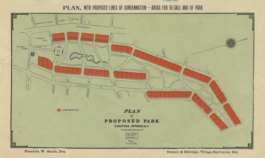 Plan of Proposed Park, Saratoga Springs, N.Y.