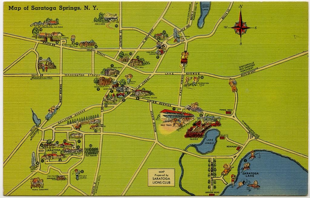 Map of Saratoga Springs, N.Y.