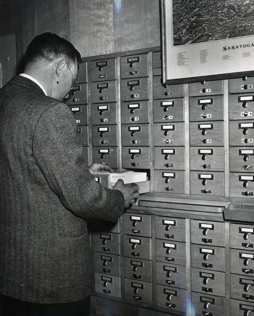 1950-SSPL-Burleigh Over Card Catalog L Dejnozka c1950.jpg.jpeg