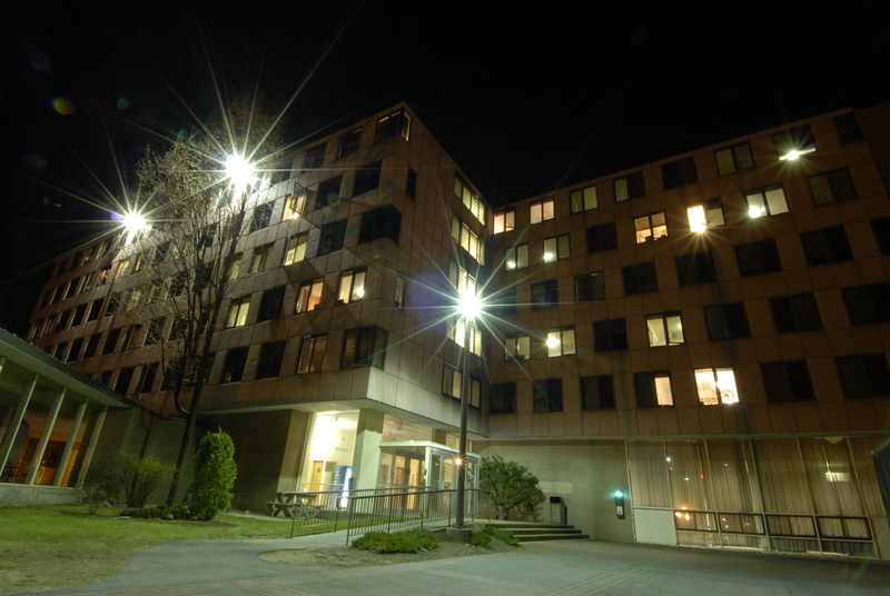Moore Hall at Night