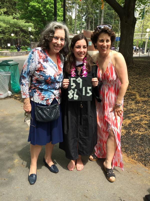 Three generations of Skidmore, including Elana Scaglia, '15