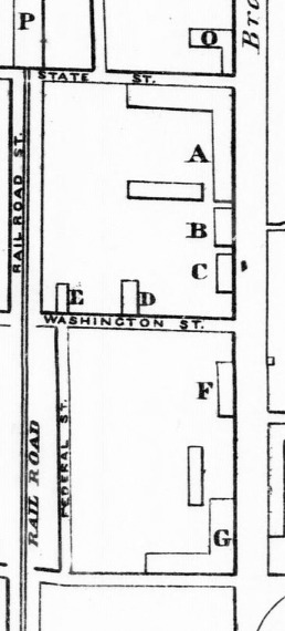 Detail, Map of Saratoga, Faxon & Reed, 1841.