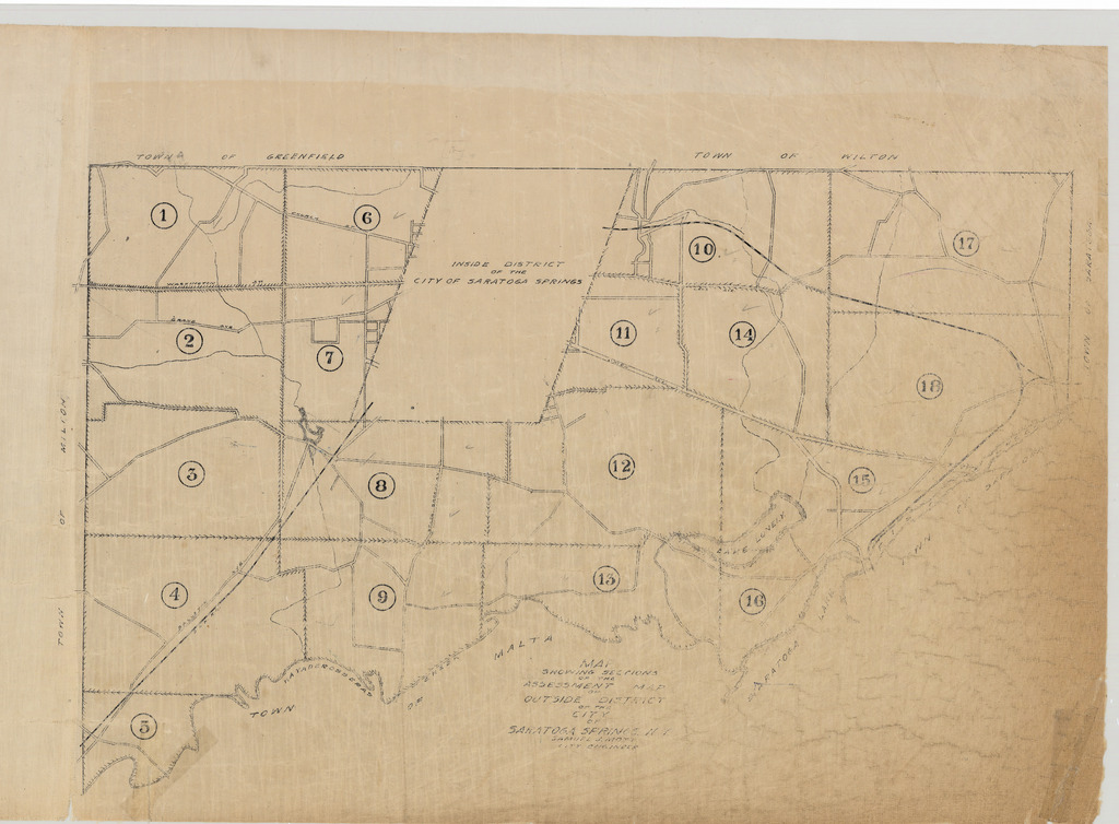 Index Map, Assessment Map of the Outside District of the City of Saratoga Springs, N.Y.