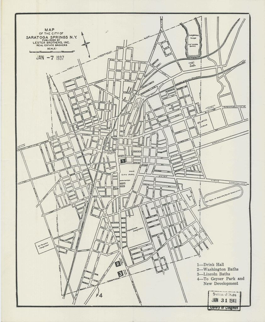 Map of the city of Saratoga Springs N.Y.