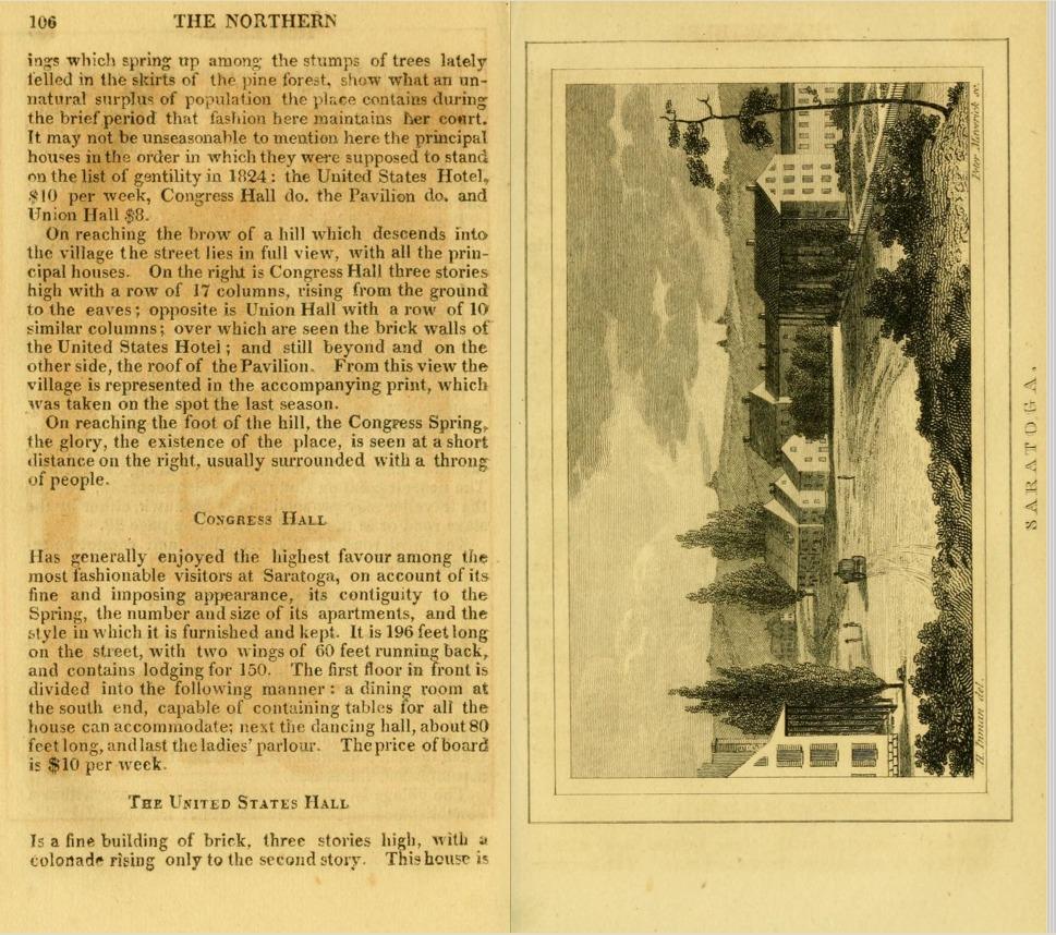 Saratoga (engraving), pp. 106-107