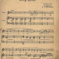 Burleigh's Arrangement of Deep River (first page).