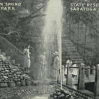 Champion Spring, Geyser Park, State Reservation, Saratoga Springs, N.Y.