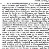 Act of Incporation, Village of Saratoga Springs