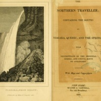 The Northern Traveller, Title Page and engraving of Niagara Falls