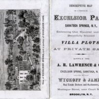 Map of a section of Excelsior Park, Saratoga Springs, N.Y.