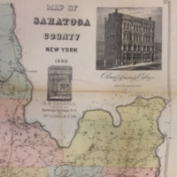 Map of Saratoga County New York 1890