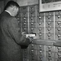 Burleigh Map over Card Catalog, L. Deijnoska
