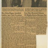 Hogan Installed as President