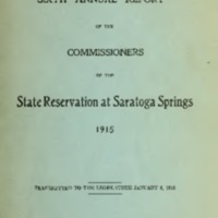 Sixth Annual Report of the Commissioners of the State Reservation of Saratoga Springs