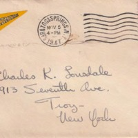 First-year student B. Jaeger's letter to friend C.K. (Charlie) Lonsdale, 09/28/1947
