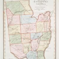 Map of the county of Saratoga / by David H. Burr ; engd. by Rawdon, Clark & Co., Albany, & Rawdon, Wright & Co., N. York.