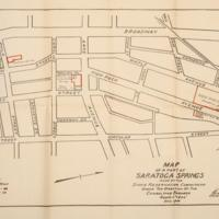 Map of a part of Saratoga Springs made by the State Reservation Commission under the direction of the Consulting Engineer