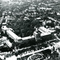 [Aerial view of Grand Union Hotel, with Congress Park in Foreground]