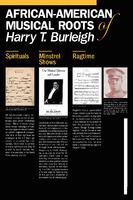 Harry T. Burleigh Exhibit Posters