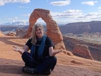 Photo: Trish at Arches National Park, Moab UT